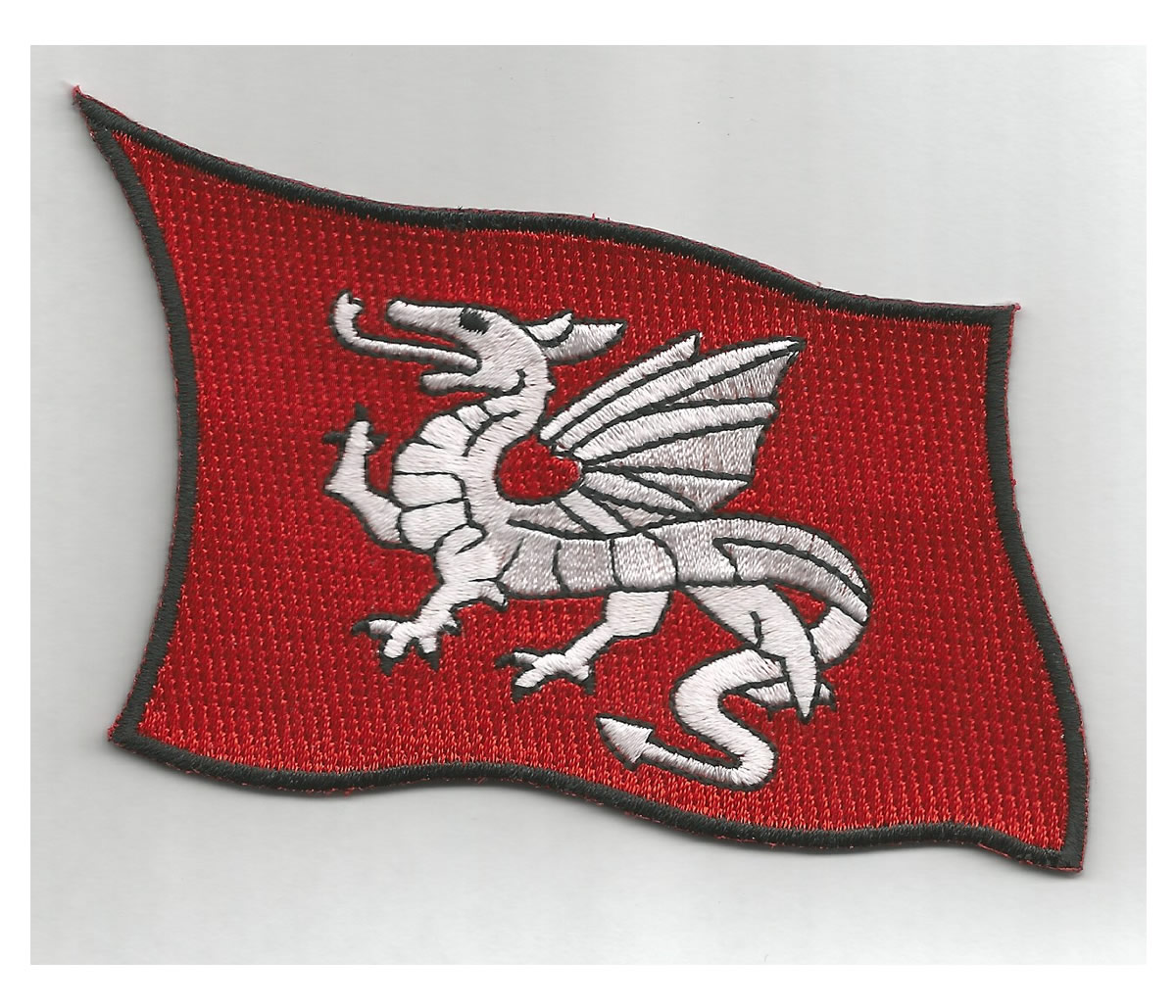 Saxon White Dragon flag patch
