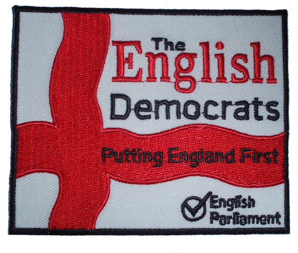 Iron on English Democrat patch