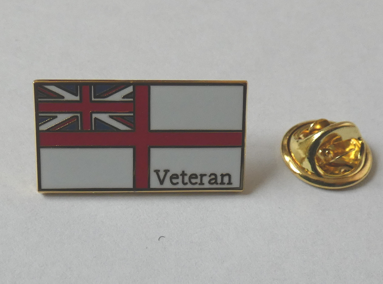 Royal Navy Veteran pin badge