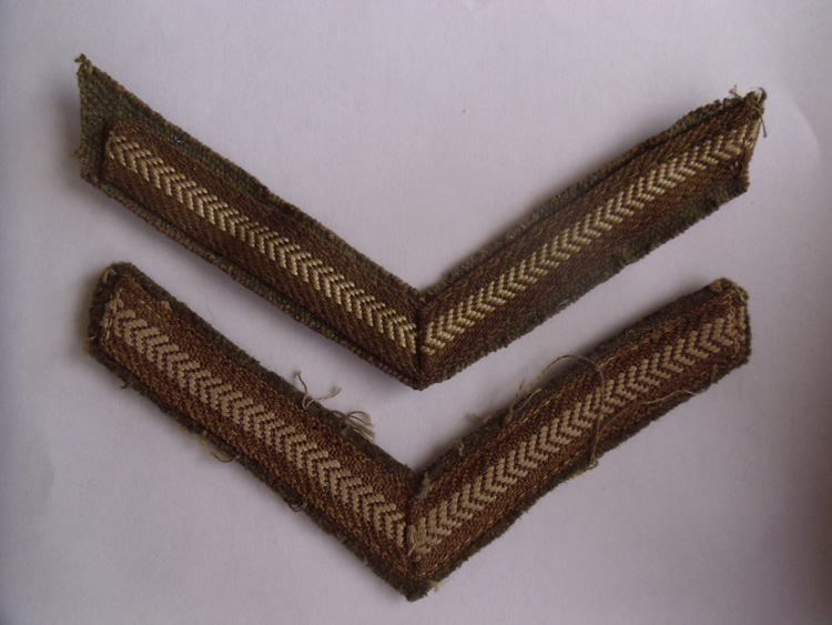 Vintage set used of British Army Lance Corporal stripes