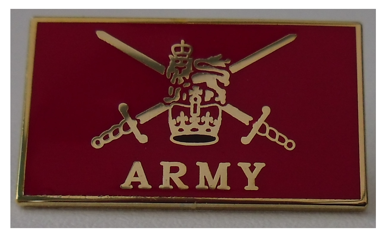 British Army crest badge
