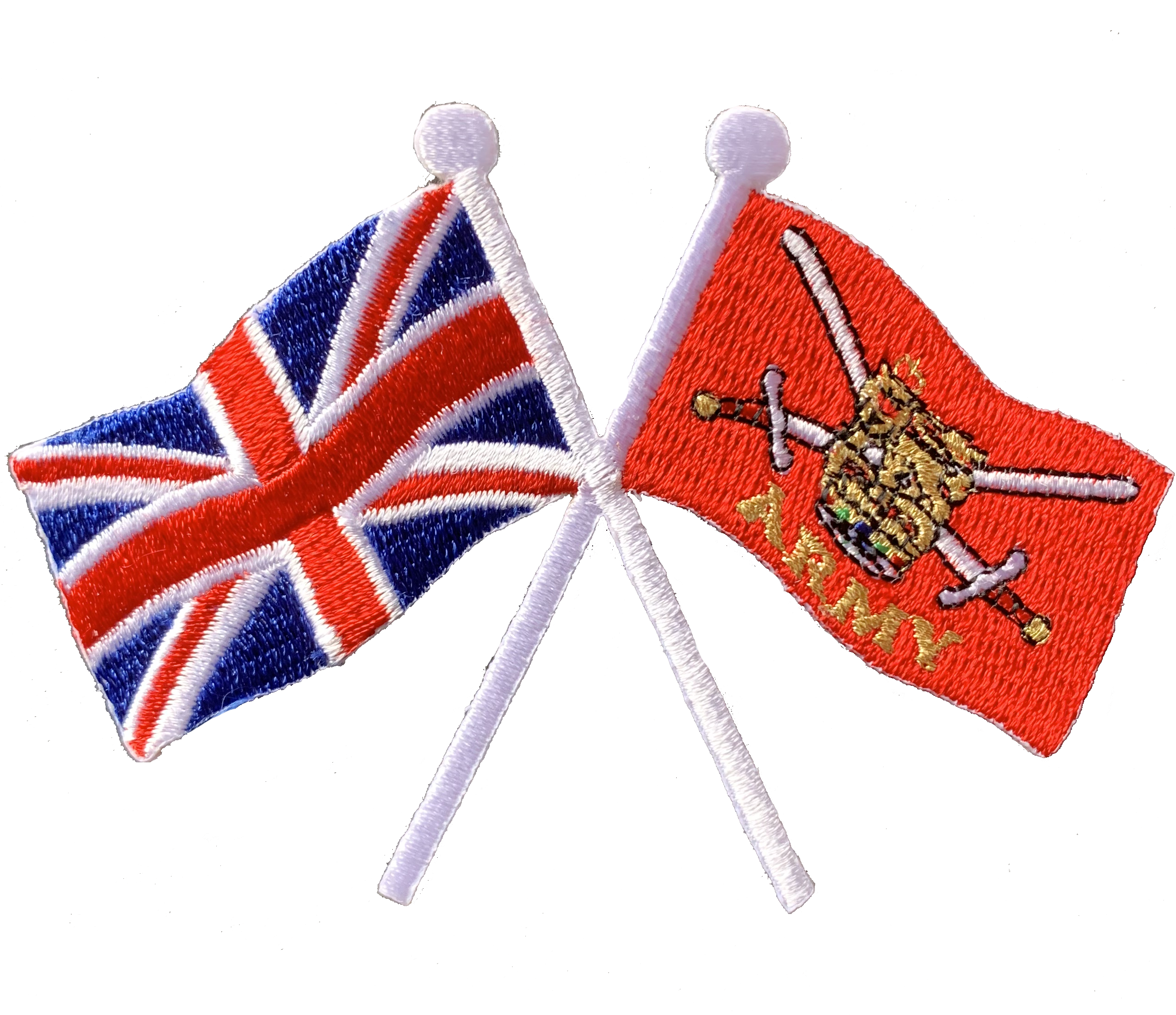 Union Jack and British Army crossed flag iron or sew on patch