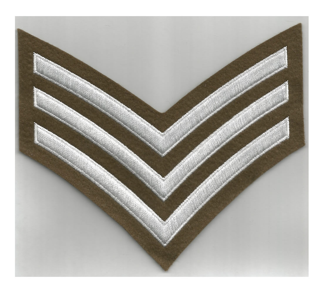 British Army WWI/WWII style Sergeant Stripes