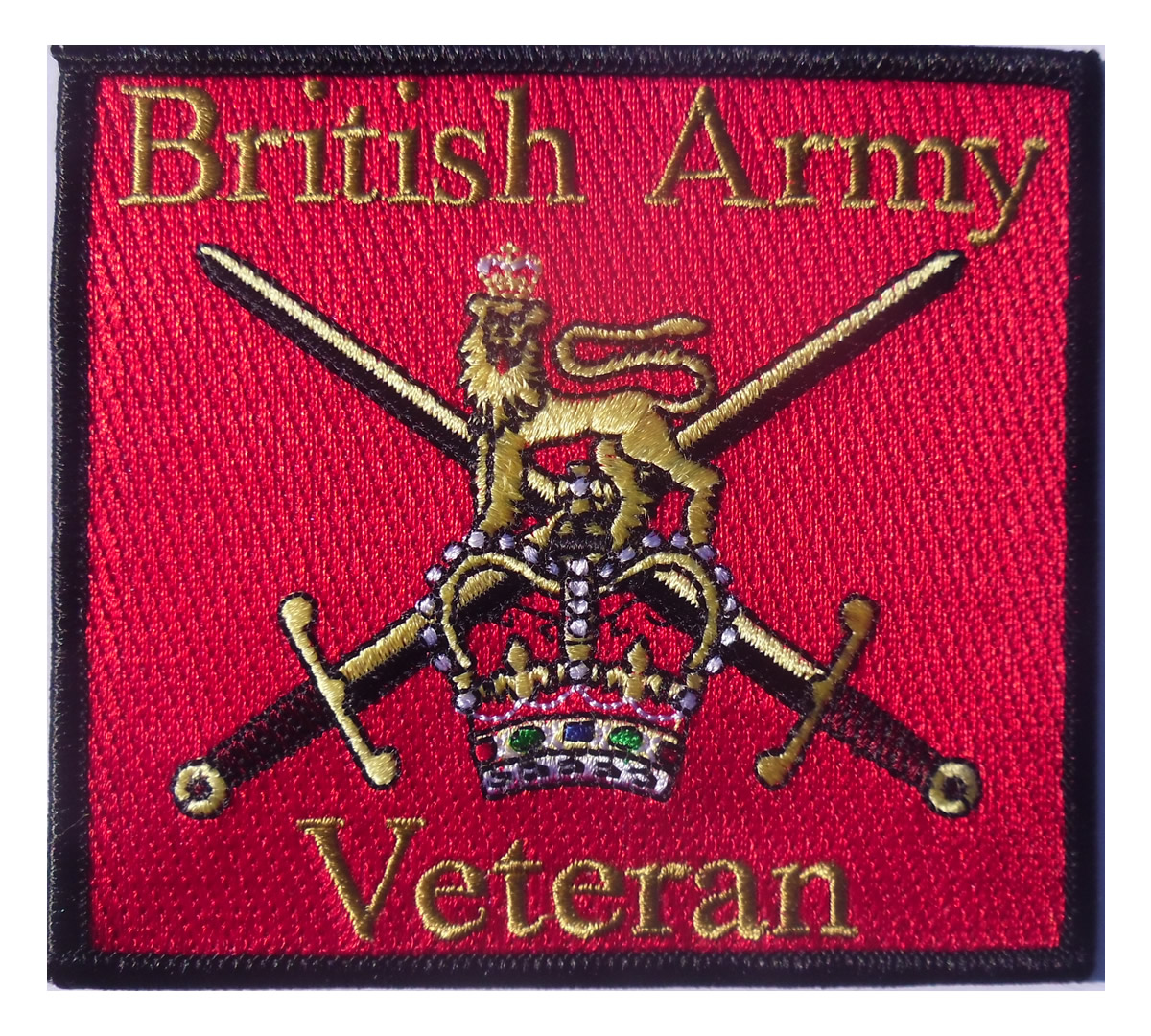 British Army Veteran Iron on Patch