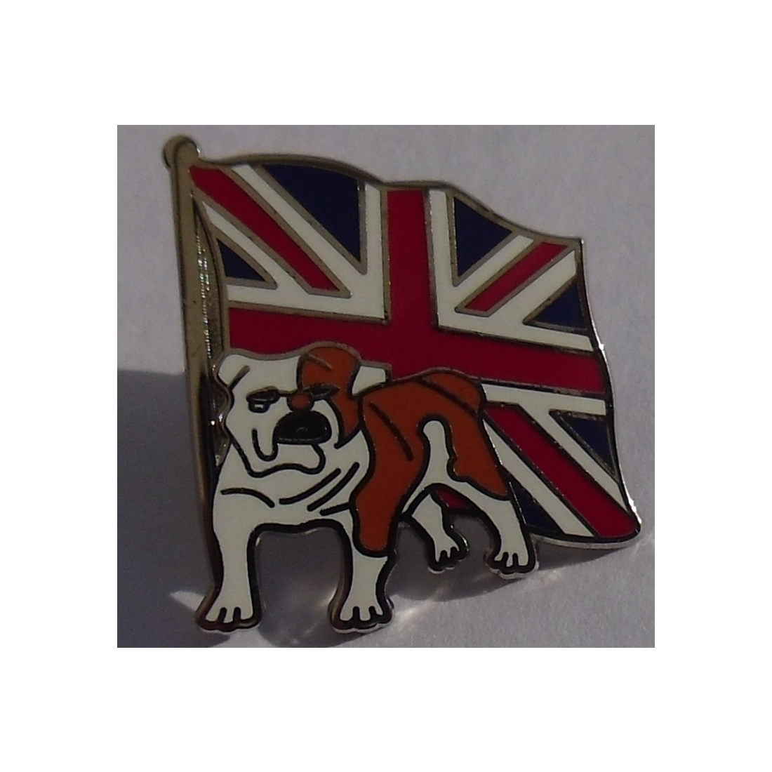 British Bulldog pin badge