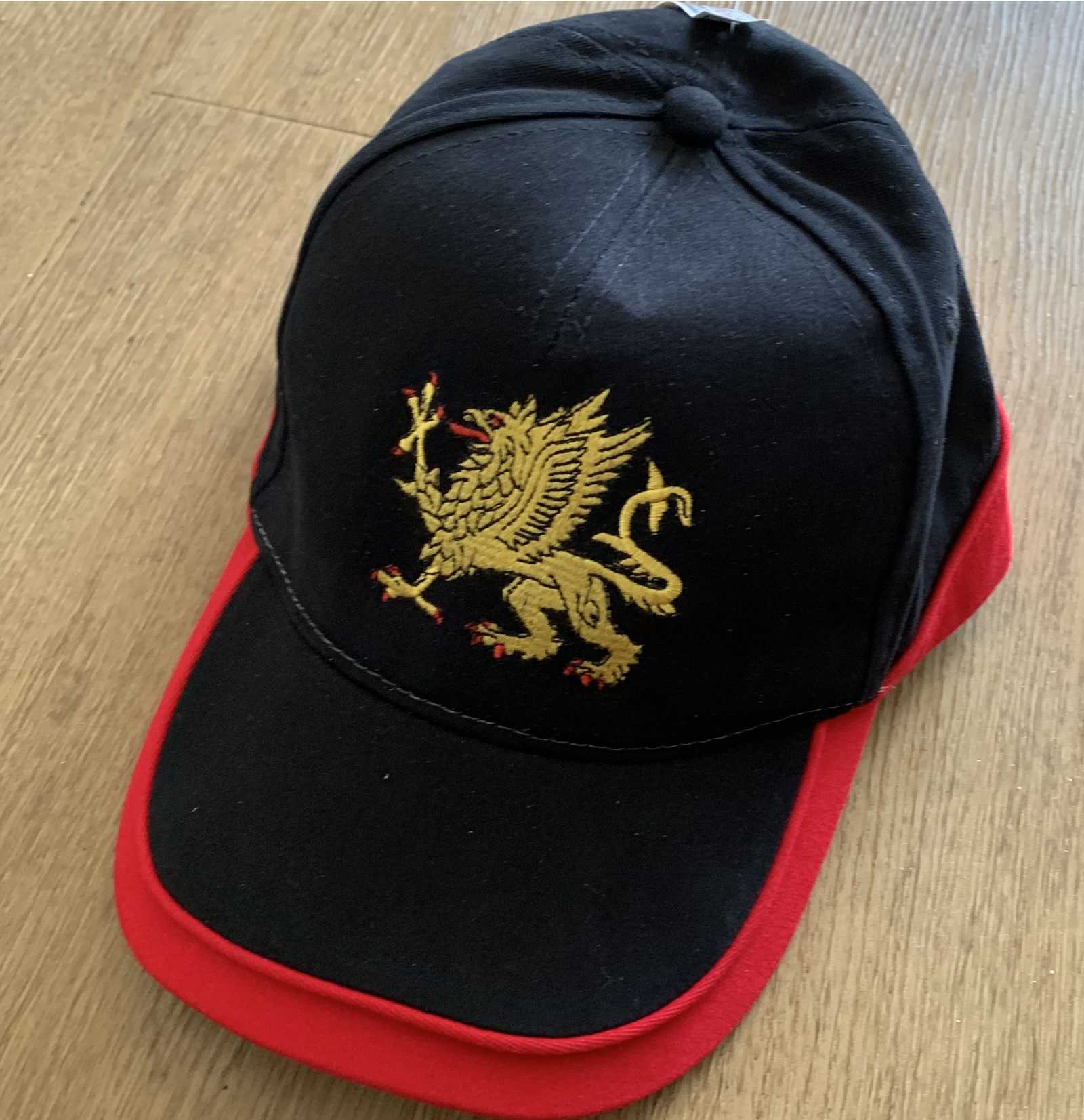 Black/Red Embroidered griffin cap