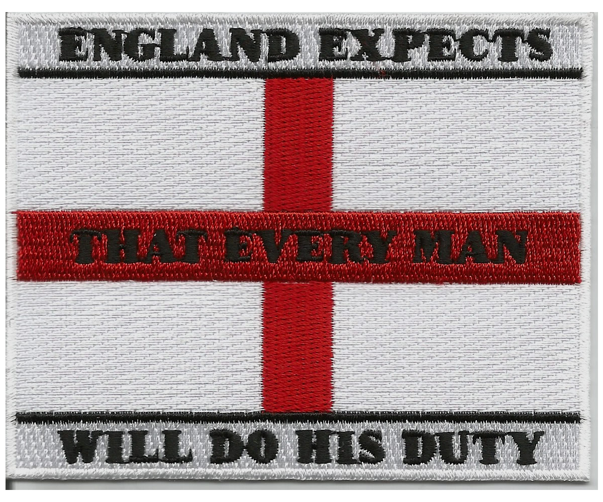 England expects..... embroidered patch