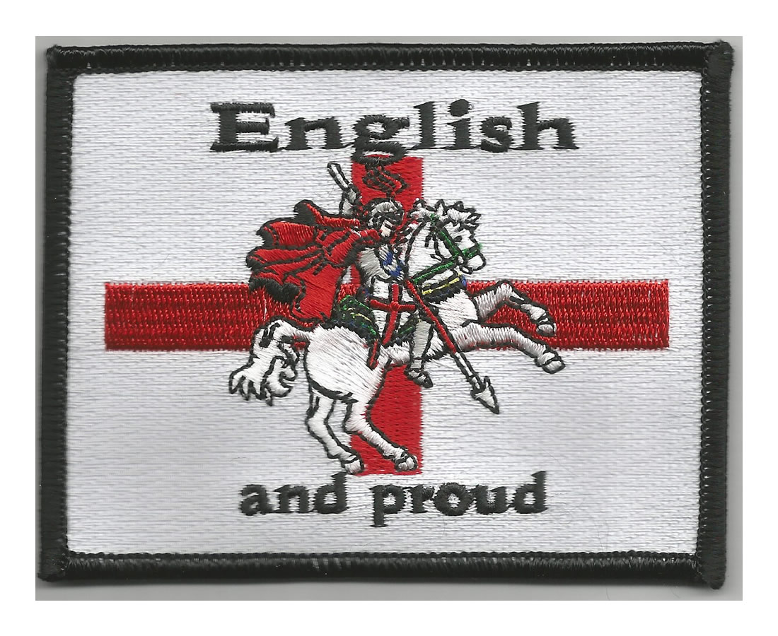 English and proud embroidered patch