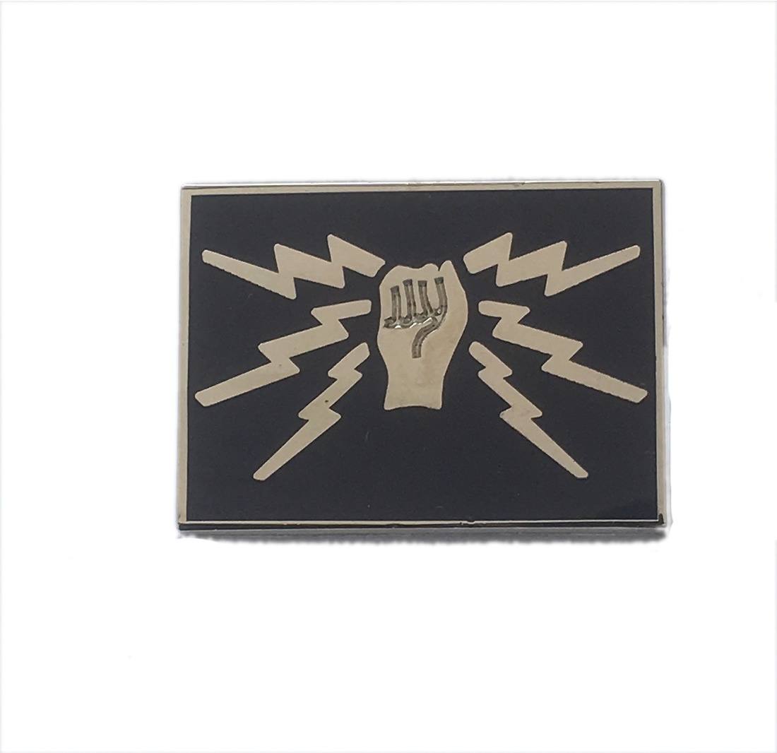 RAF Telecommunications 'fist and sparks' pin badge