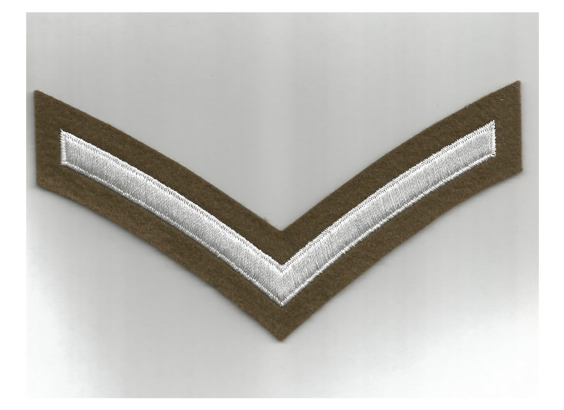 British Army WWI/WWII style Lance Corporal Stripe