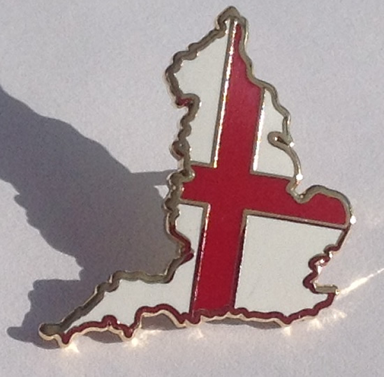 England Map Pin badge