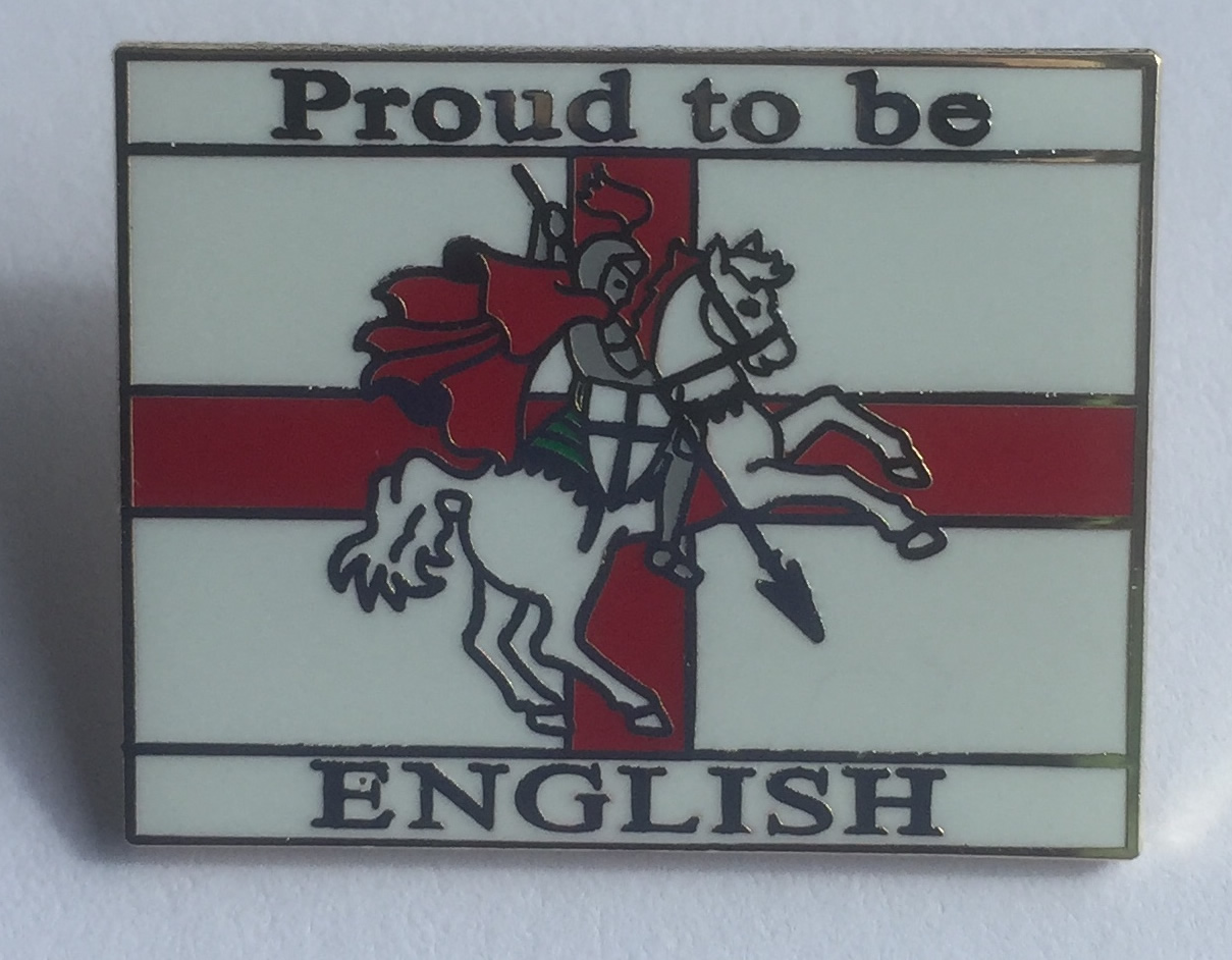 Proud to be English enamel pin badge