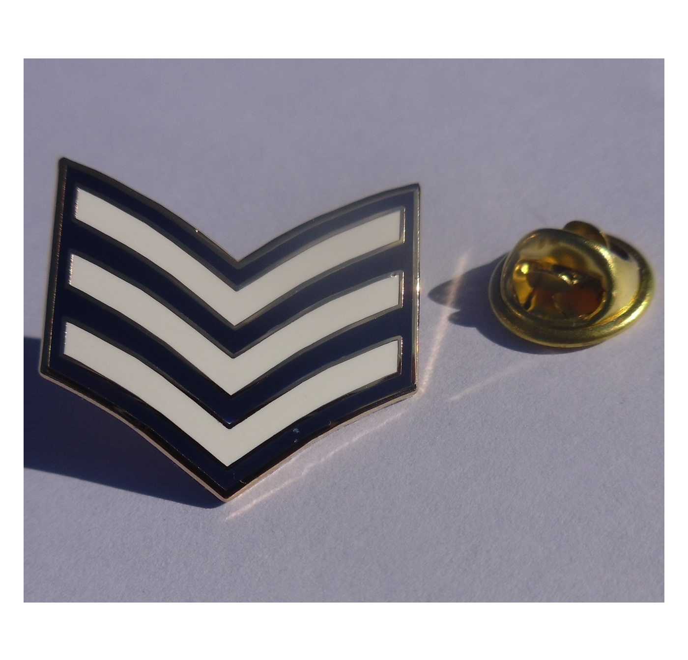 Sgt Stripes lapel pin badge RAF - Police