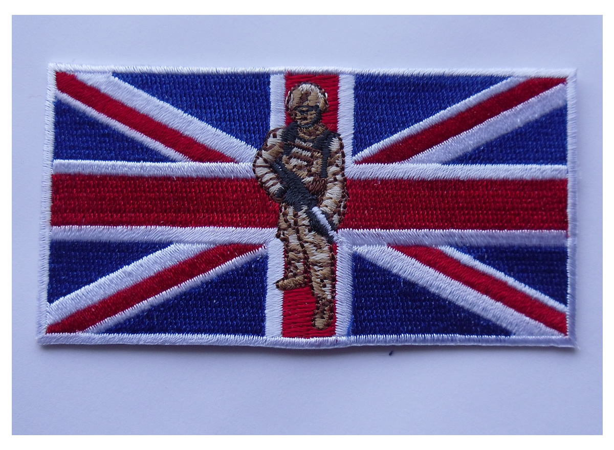 Support UK Armed forces Union Jack soldier patch - Click Image to Close