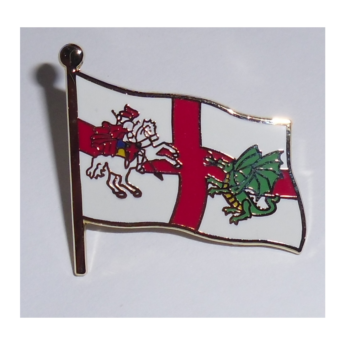 Saint George and dragon England pin badge