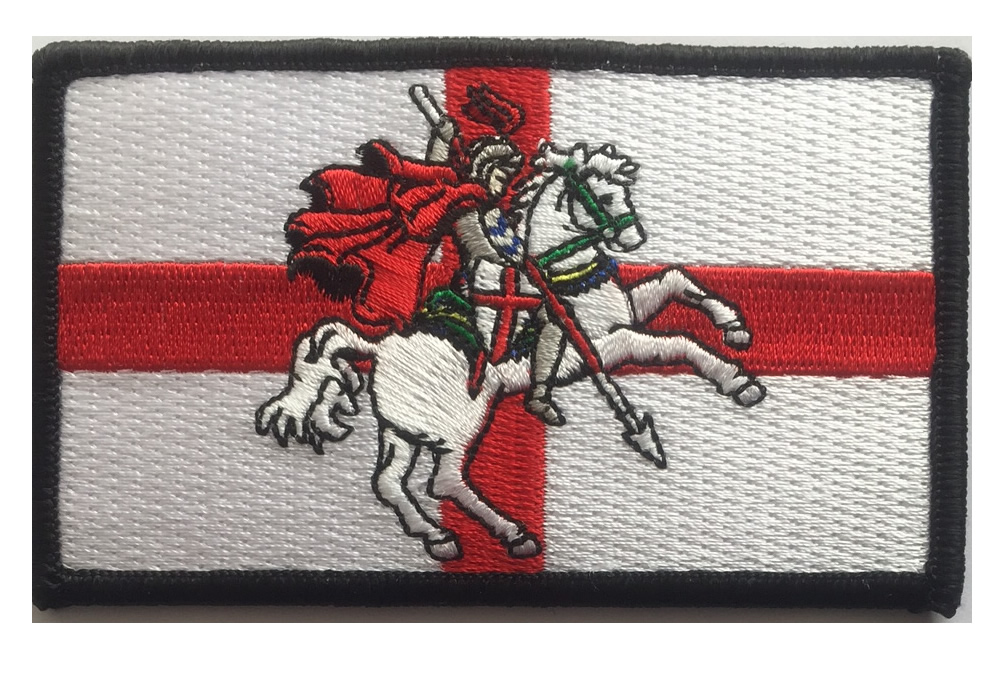 England St George embroidered patch with St George