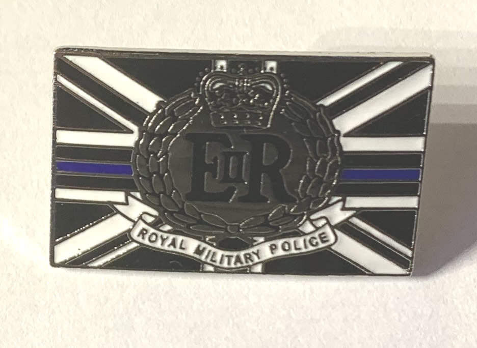 Royal Military Police thin blue line pin badge