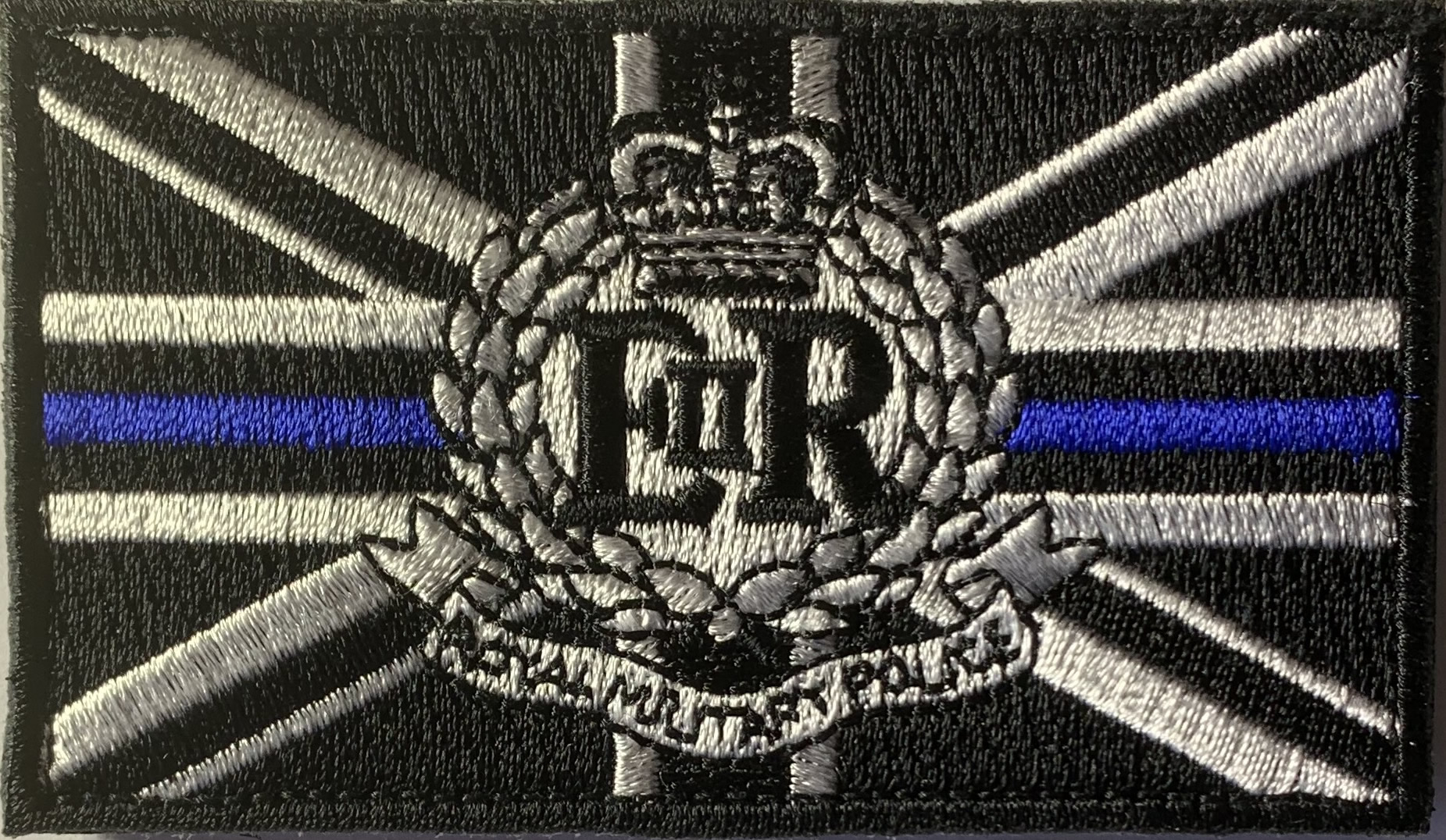 Royal Military Police thin blue line iron on patch