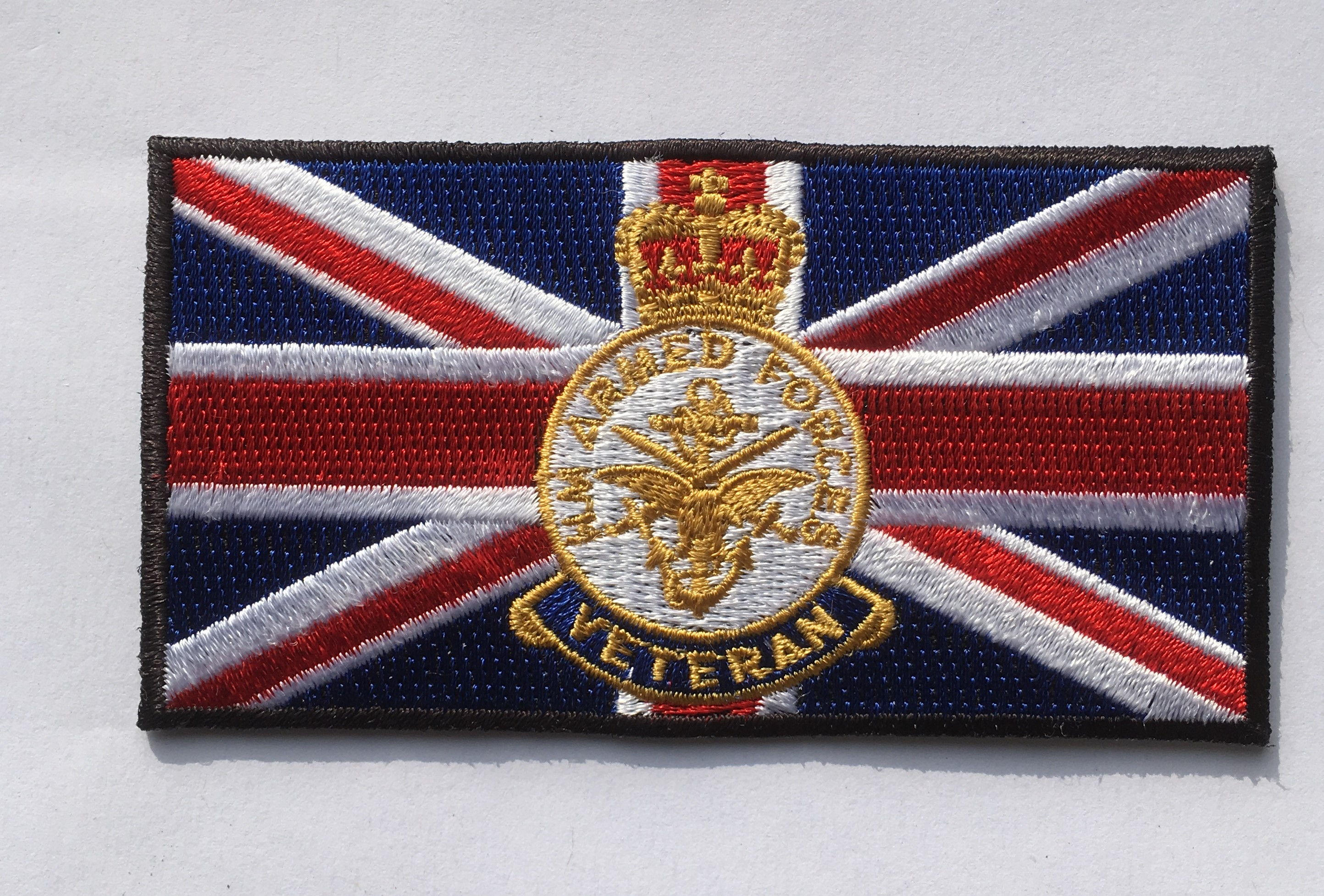 Union jack with HM Armed Forces Veteran crest