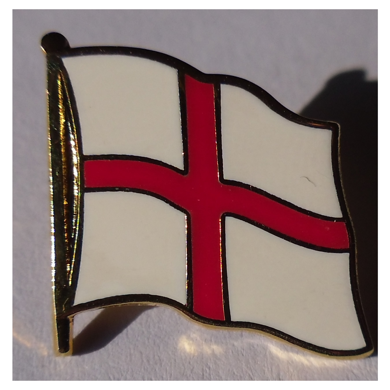 England Cross of StGeorge flag badge - Click Image to Close