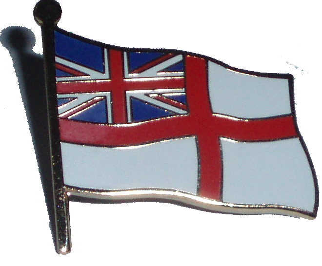 White Ensign Royal navy pin badge