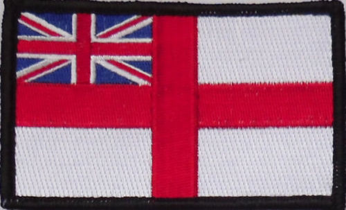Royal Navy White Ensign embroidered patch