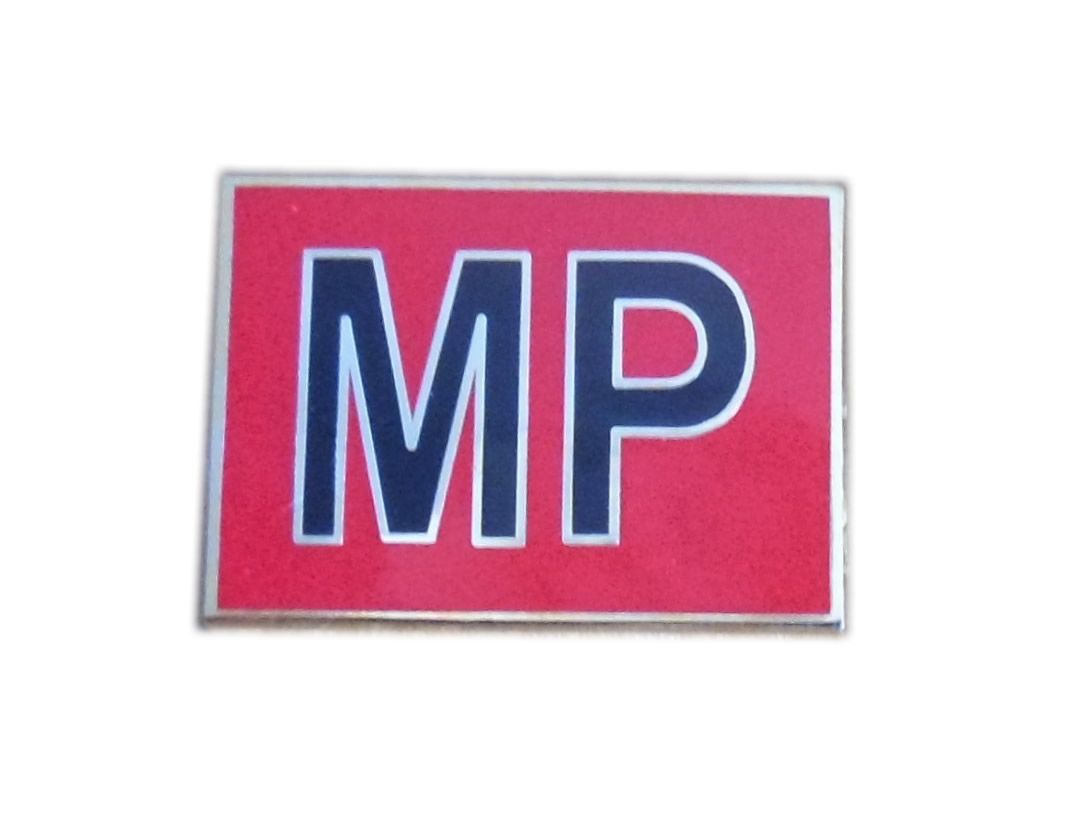 Royal Military Police MP pin badge