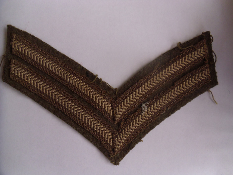 Vintage used British Army Corporal stripes