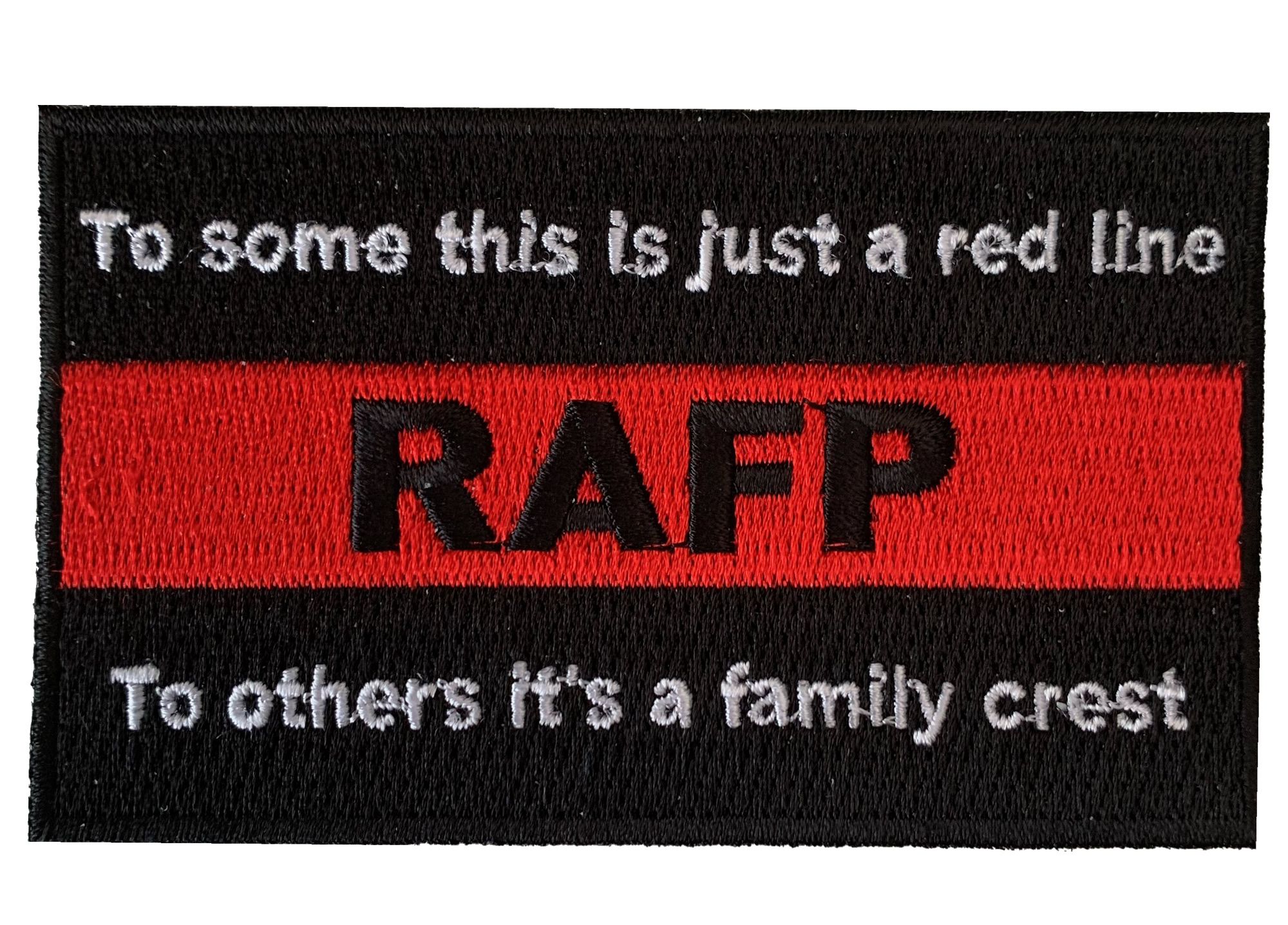 RAFP family crest iron on patch
