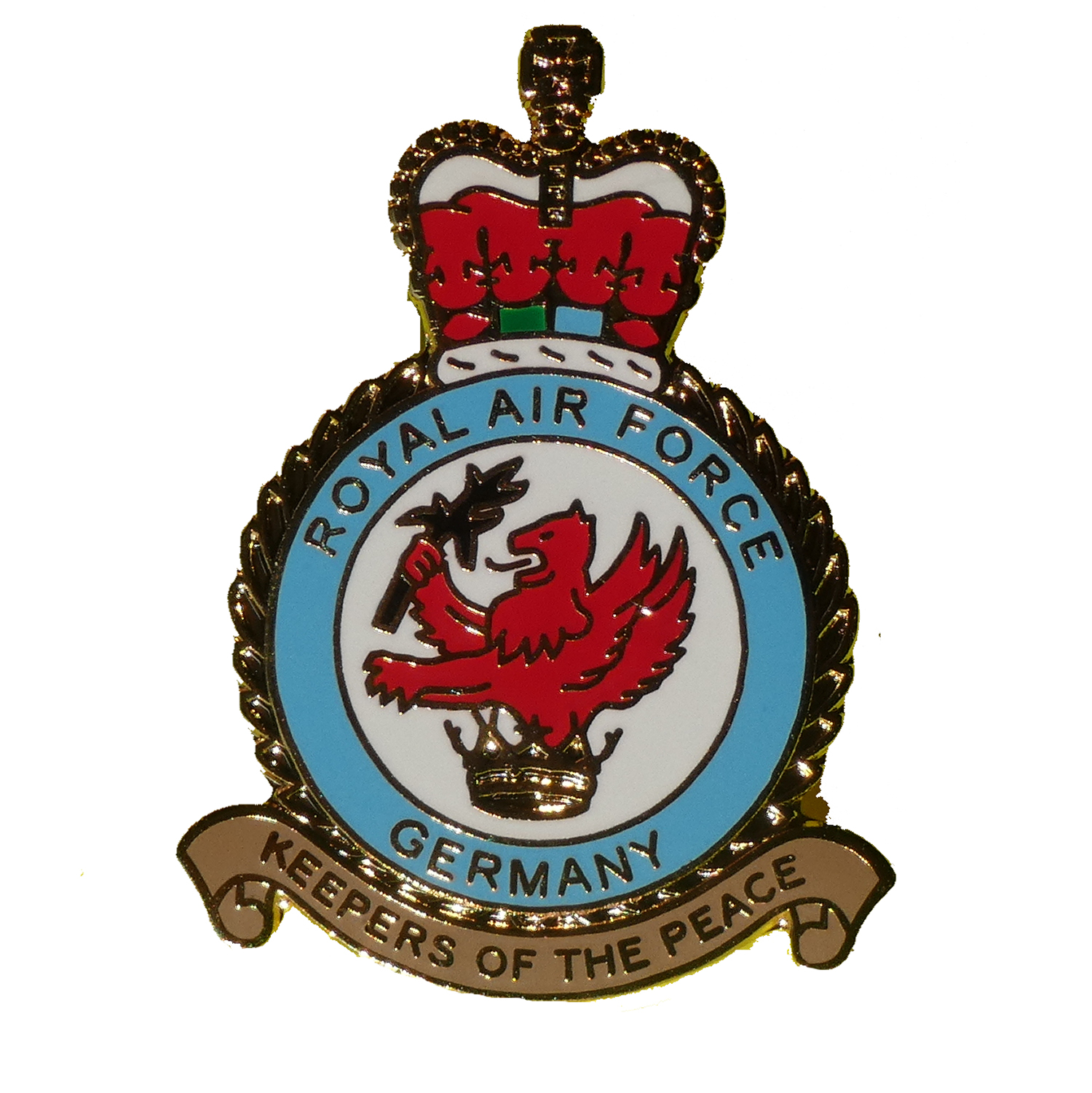 RAF Germany (RAFG) crest pin badge
