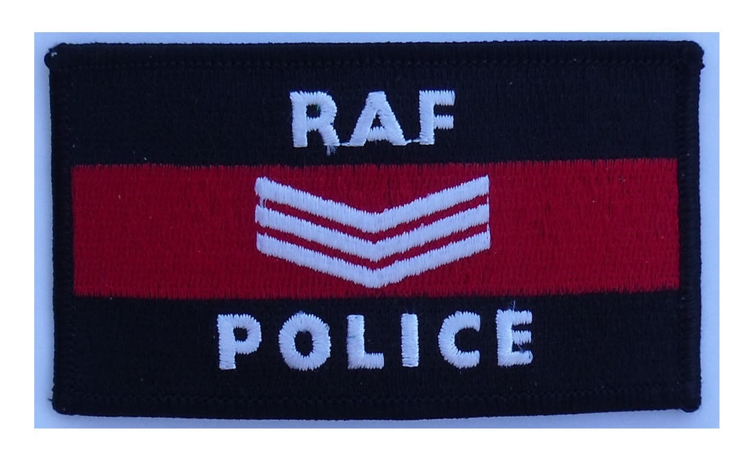 Royal Air Force Police Sergeant Embroidered Patch