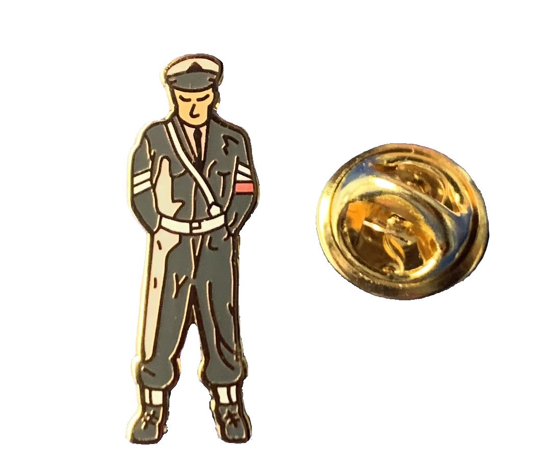 RAF Police figure pin badge