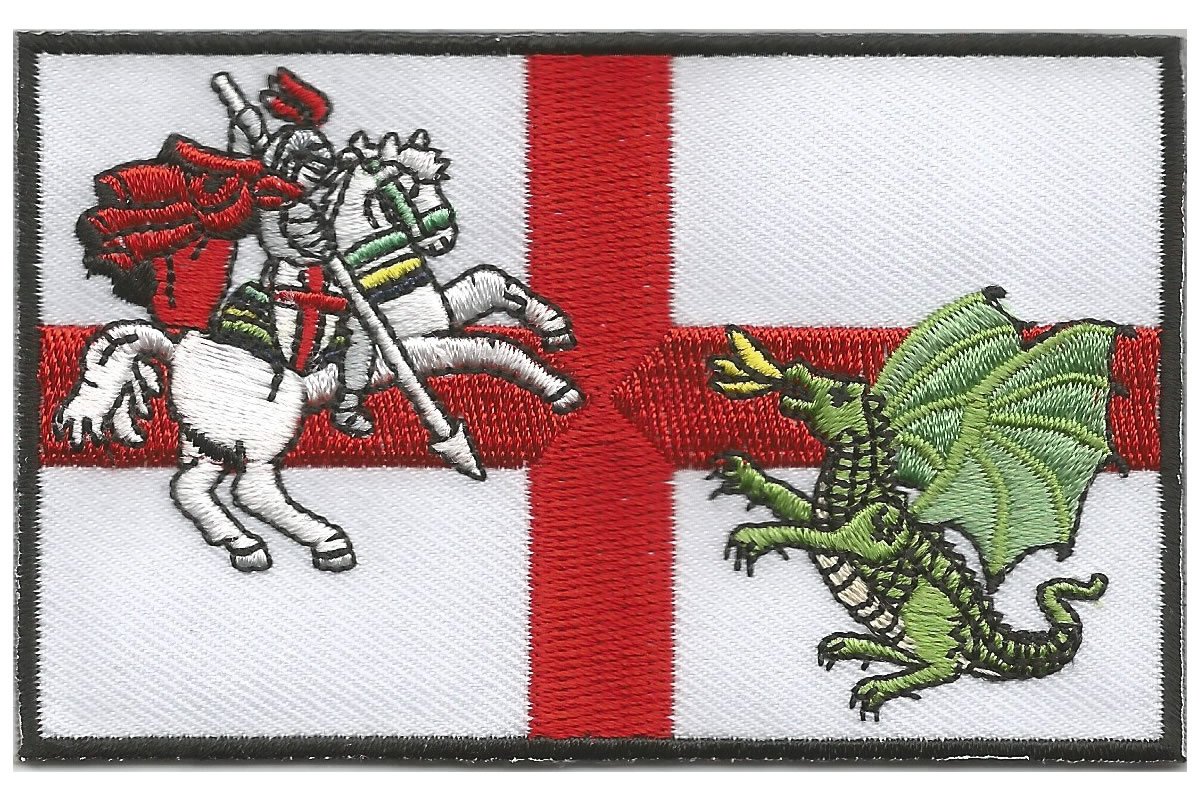 St George and Dragon embroidered patch